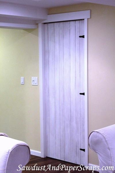 painted plank barn door diy pocket door