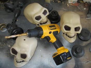 Halloween DIY Skull Candlesticks