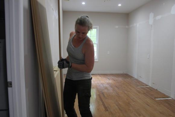Hauling materials to build master closet built-ins