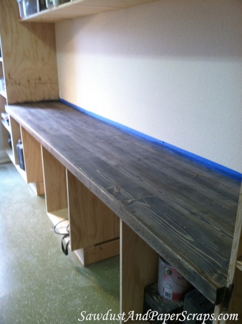 DIY Wood Workshop Countertops
