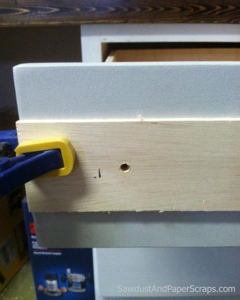 DIY cabinet pulls