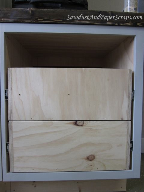 Installing Cabinet Drawers with Glides - Sawdust Girl®