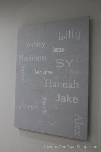 Grandchild names - Subway Art gift idea