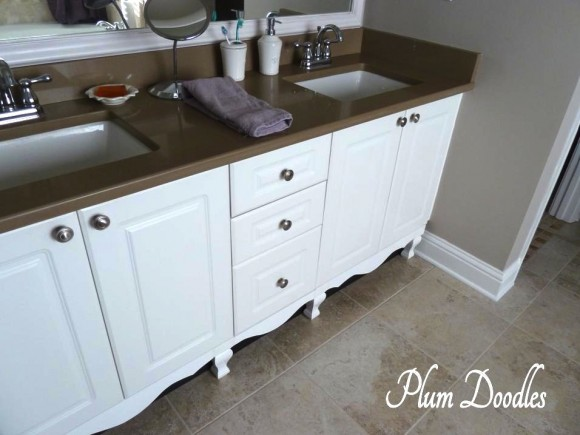 Make A Bathroom Vanity Look Like A Custom Piece Of Furniture - How to make a bathroom vanity