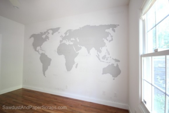 World map wall painting sawdust girl world map wall decor gumiabroncs Image collections