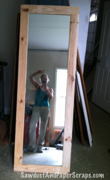 Easy DIY Framed Mirror