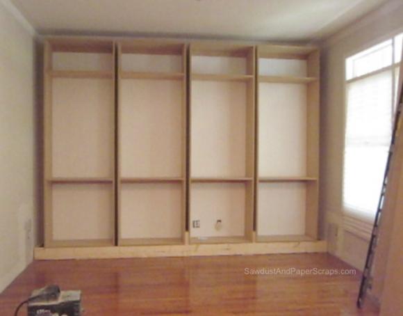 get - Library Built In Bookshelves