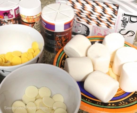 Easy Halloween Treat: Marshmallow Pops