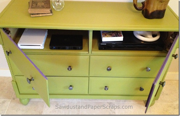 Dresser turned TV console