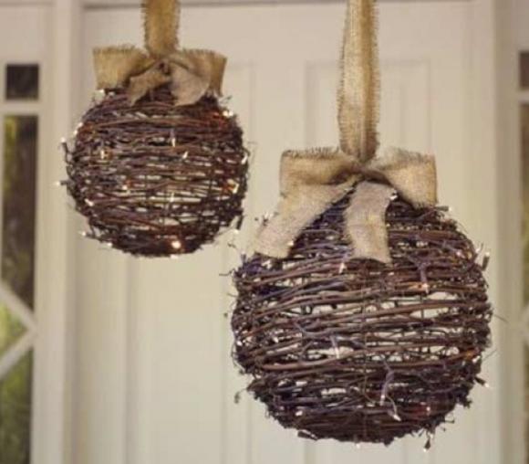 twig ball ornament